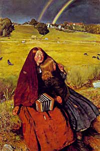 Sir John Everett Millais, The Blind Girl, 1854-1856